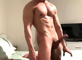 bigdick;big-dick;big-cock;muscle-man,Muscle;Solo Male;Big Dick;Gay Muscle hunk jerks...