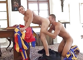 Bareback (Gay);Big Cock (Gay);Blowjob (Gay);Hunk (Gay);Anal (Gay) Horny priest...