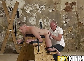 Twink (Gay);BDSM (Gay);Old+Young (Gay);Sex Toy (Gay);Spanking (Gay);HD Videos;Anal (Gay) Blonde restrained...