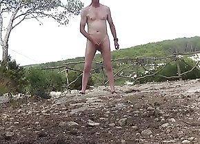 Beach (Gay);Outdoor (Gay);Striptease (Gay);HD Gays Naked wank in...