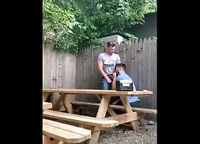 blowjob;gay-blow;backyard,Fetish;Gay Blowjob at the...