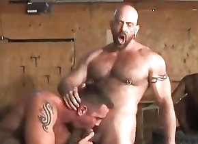 Bears (Gay);Blowjobs (Gay);Daddies (Gay);Interracial (Gay);Muscle (Gay) Muscle Daddy Orgy