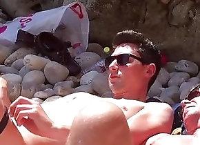 Men (Gay);Gay Porn (Gay);Hunks (Gay);Masturbation (Gay);Outdoor (Gay);At the Beach;Public Beach Public jerkoff at...