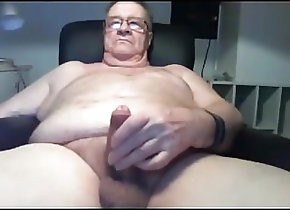 Masturbation (Gay) grandpa stroke on...