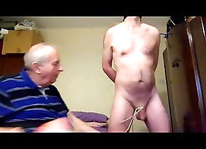 Amateur (Gay);BDSM (Gay);Daddy (Gay);Small Cock (Gay);Couple (Gay) CBT from Sir on a...