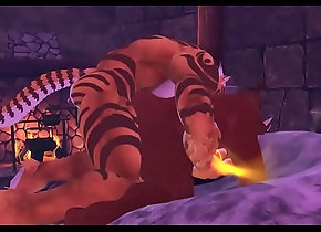 chubby,gay,animation,game,bareback,tiger,life,sl,yiff,furry,second,boar,gay Boar and Tiger - 3