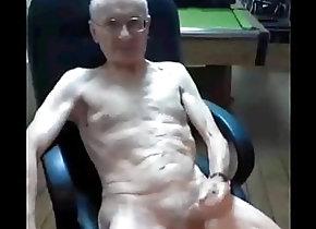 Daddy (Gay);Masturbation (Gay);Skinny (Gay) skinny old man