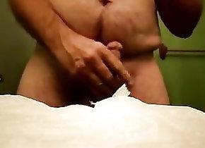Men (Gay);Amateur (Gay);Fat Gays (Gay);Masturbation (Gay);Small Cocks (Gay) Cum shot close up...