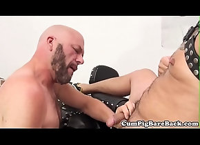 anal,tattoo,mature,closeup,fetish,gay,bald,bareback,bear,breeding,gaysex,beard,nippleplay,unsaddled,leatherstrap,gay Bald bear...