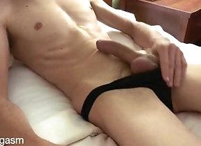femboy;solo-male;uncircumcised-cock;panties;masturbation;solo-cum;verified-amateurs;big-white-cock;cum-on-stomach;solo-masturbation;sexy-body;twink;masturbate,Solo Male;Gay Femboy Blows a...