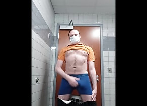 hairy;gay;solo-male;masturbation;at-work;restroom;cumshot;naked;horny;cock;cum-on-floor,Daddy;Solo Male;Gay;Amateur;Cumshot;Verified Amateurs Why do I get so...