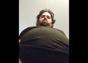 belly-bloat;fat-guy,Solo Male;Gay Sports drink chug