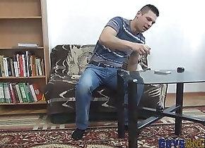 Hunk (Gay);Masturbation (Gay);Muscle (Gay);Gay Solo (Gay);Gay Cock (Gay);Gay Jerking (Gay);HD Videos Buff uncut dude...