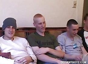 Amateur (Gay);Defiant Boyz (Gay);Gay Men (Gay);Gay Cock (Gay);Gay Guys (Gay) Five Guys Beating...