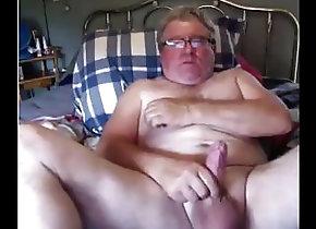 Amateur (Gay);Daddies (Gay);Masturbation (Gay);HD Gays grandpa stroke on...